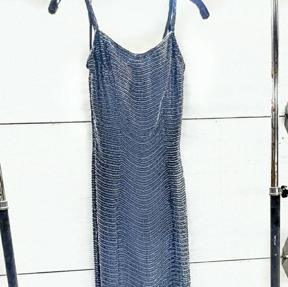 Saks Fifth Avenue Dresses Vintage Long Silk Beaded Gown Poshmark